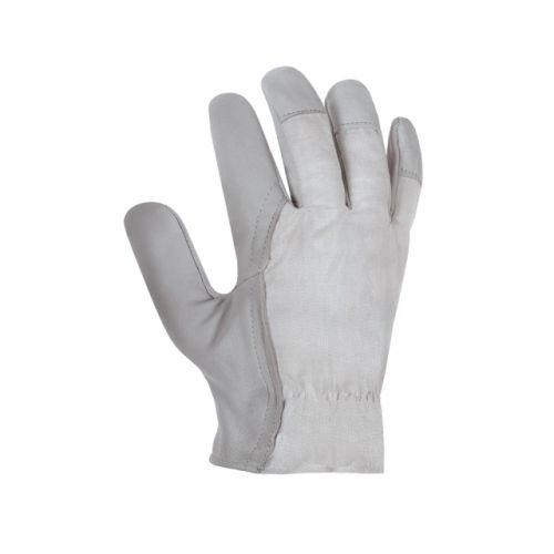 Handschuhe mit KÖRPERRÜCKEN / texxor / natur-grau