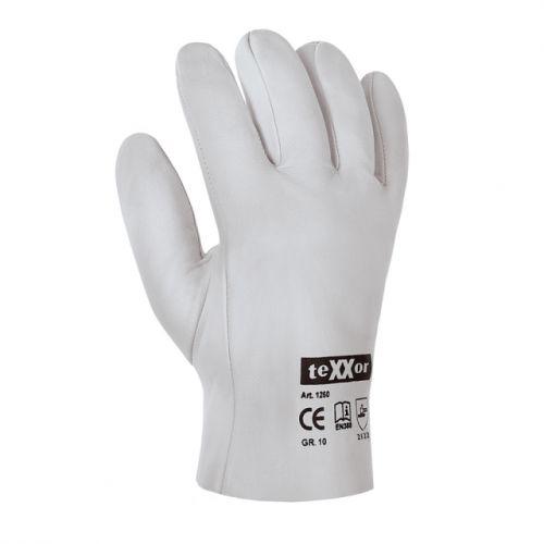 Handschuh VOLLLEDER / texxor / natur-grau