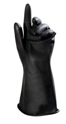 Handschuhe BUTOFLEX 651, Butyl, Gerade Stulpe, Profil, 35cm, schwarz