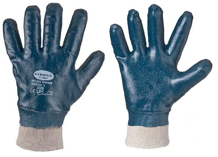 nitril handschuhe mariner blau vollbeschichtet l und. Black Bedroom Furniture Sets. Home Design Ideas