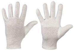 Trikot-Handschuhe aus Baumwolle, Finger-Daumen gedoppelt, Modell DAZHOU