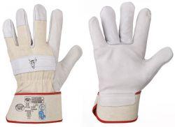 Rindvollleder-Handschuhe CLASSIC STIERKOPF, TÜV/GS geprüfte Premiumqualität