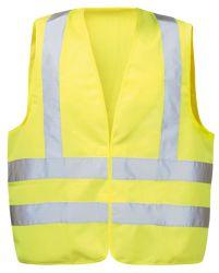 Warnschutzweste EGON, gelb, Klettverschluss, Schulterreflex