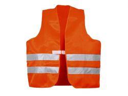 Warnschutzwesten nach EN 20471 Polyester leuchtorange