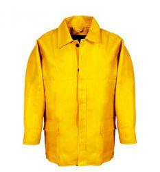 PU-Winterbau-Jacke gelb