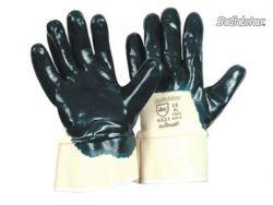 Nitril blau Stulpe robuster Handschuh starke Nitril-Beschichtung