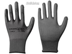 Feinstrick-Handschuh mit PU-Beschichtung grau