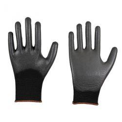 Feinstrick-Handschuh, schwarzer PU-Beschichtung, Nur noch Wenige in Gr. 9 und 10 verfügbar