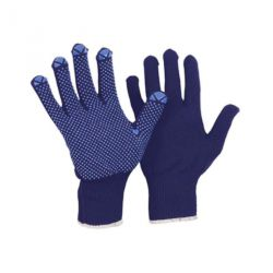 Feinstrick-Montage-Handschuh blau Benoppung