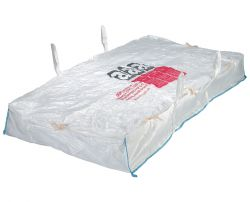 Asbestplattenbag 260x125x30 cm, mit Asbestaufdruck, PP-Gewebe, 1000kg