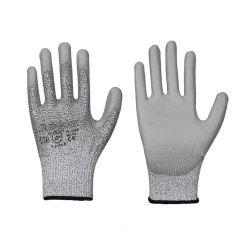 Schnittschutz Handschuh / PU-Beschichtung / Stufe B / grau