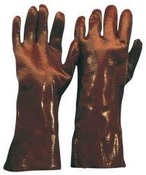 PVC-Handschuh / rotbraun / CE CAT 3 / Länge 58 cm