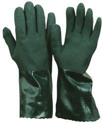 PVC-Handschuh / gesandet / CE CAT 3 / grün / vollbeschichtet / 35 cm
