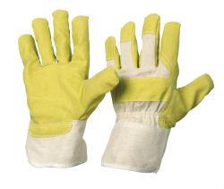 Vinyl-Handschuh / Größe 9 / Farbe: gelb / Stulpe