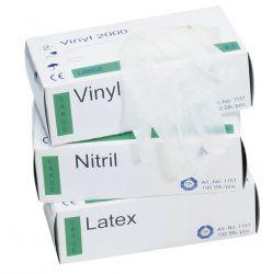 Einweg-Handschuh aus Nitril / puderfrei / Spenderbox á 100 Stück