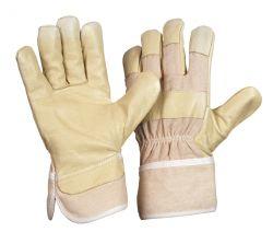 Jumbo-PAWA / Schweinsnarbenlederhandschuh / Farbe: gelb / Größe 12