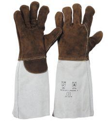 Sebatanleder-Handschuh / 35 cm / hitzebeständig / wärmeisolierendes Spezialfutter