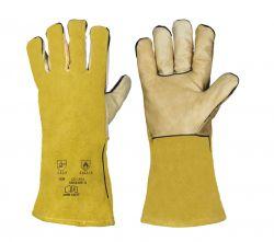 5-Finger-Kombi / gelb / CE CAT 2 / gefüttert / Länge 35 cm