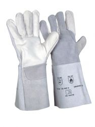 5-Finger-Kombi-Handschuh / naturfarben / CE CAT 2 / EN 12477 A+B / Länge 35 cm