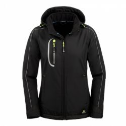 Damen Softshell-Jacke MARYLAND / PROTECT Workwear / Schwarz