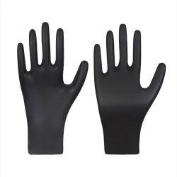 Nitril-Einmalschutzhandschuh / BLACK / schwarz / puderfrei / Box à 100 Stück
