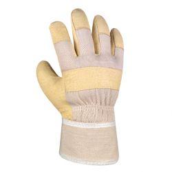 Schweinsvollleder-Handschuh / 88 PAWA / texxor / Leder-gelb-weiß