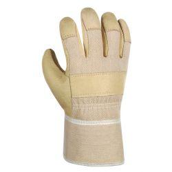 Schweinsvollleder-Handschuh DAMEN-PAWA / texxor / Leder-gelb-weiß