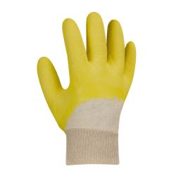 Universalhandschuhe LATEXBESCHICHTET / texxor / gelb