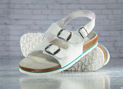 Sandale MERKUR Weiß