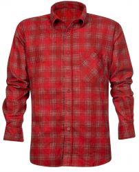 Baumwollhemd mit Muster / Rot