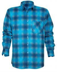 Baumwollhemd mit Muster / Blau