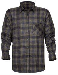 Baumwollhemd mit Muster / Schwarz