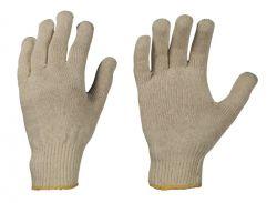 Mittel-Strick-Handschuhe aus Baumwolle, rohweiß, Model MUTAN