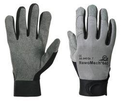 Handschuhe RewoMech 640, Kunstleder/ Elastan, Klettversch.