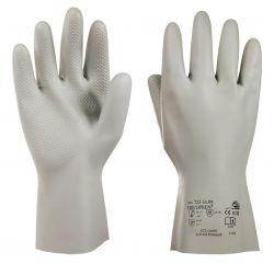 Handschuhe Tricopren 723, Chloropren, Stulpe, vollb., Profil, 29-31cm - grau