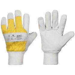 *KARIBU* STRONGHAND® Handschuhe / Gr. 11 / naturfarben / gelb