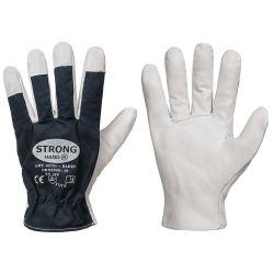 BADIN GOODJOB® Handschuhe / naturfarben / blau / Nappaleder