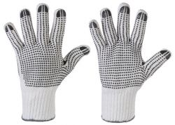 Grob-Strick-Handschuhe TANTUNG mit Schwarzen Vinyl Noppen, Profi Qualität